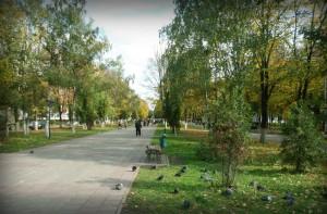 Благоустройство бульвара в первом микрорайоне города Московский