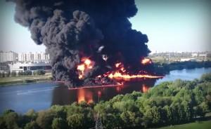 Ликвидирован пожар на Москва-реке