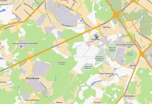 Деревня Саларьево на карте